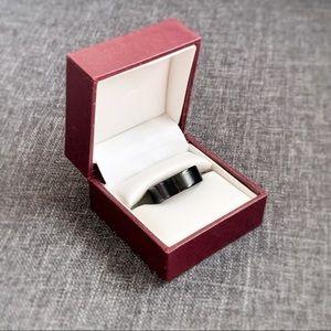Black Tungsten Carbide 8mm Band Ring